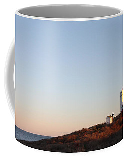 Sunset Over Montauk Lighthouse Coffee Mug by John Telfer