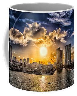 Sunset Over The Arena Hdr Coffee Mug