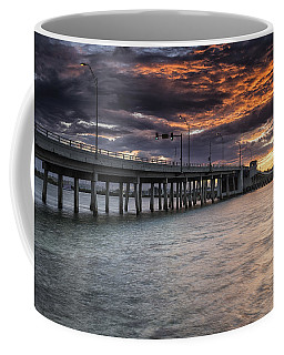 Sunset Over The Drawbridge Coffee Mug