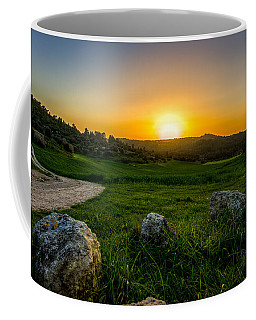 Sunset Over The Judean Hills Coffee Mug