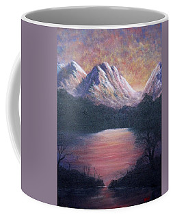 Sunset Over The Lake Coffee Mug by Megan Walsh
