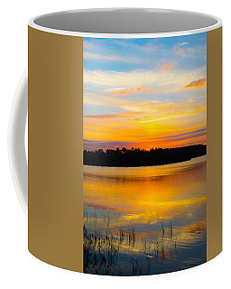 Sunset Over The Lake Coffee Mug by Parker Cunningham