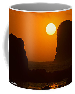 Sunset Over The Pacific Ocean With Rock Stacks Coffee Mug by Jeff Goulden