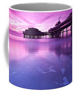 Sunset Over The Pier Coffee Mug by Mihai Andritoiu