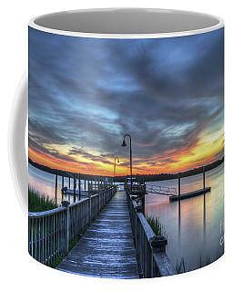 Sunset Over The River Coffee Mug