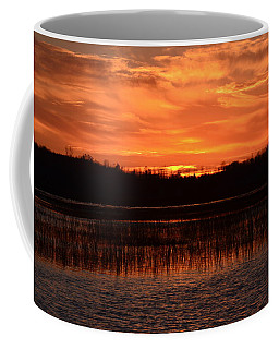 Coffee Mug featuring the photograph Sunset Over Tiny Marsh by David Porteus