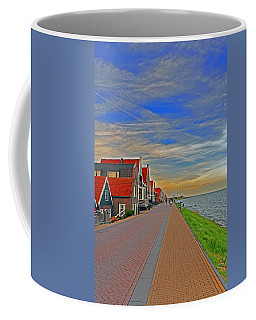 Sunset Over Volendam Coffee Mug