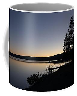 Sunset Over Yellowstone Lake Coffee Mug