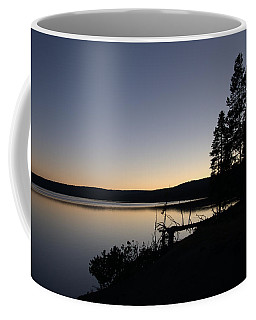 Sunset Over Yellowstone Lake Coffee Mug