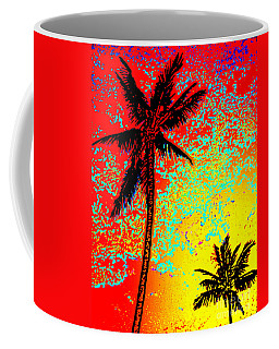 Coffee Mug featuring the photograph Sunset Palms by David Lawson