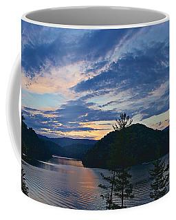 Sunset Pano - Watauga Lake Coffee Mug