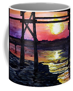 Sunset Pier Coffee Mug by Lil Taylor