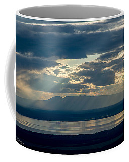 Sunset Rays Over Mount Susitna Coffee Mug by Andrew Matwijec
