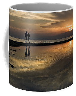 Sunset Reflection And Silhouettes Coffee Mug