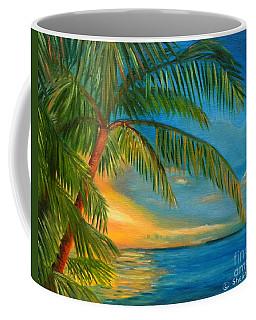 Sunset Reflections - Key West Sunset And Palm Trees Coffee Mug by Shelia Kempf