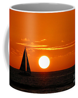 Coffee Mug featuring the photograph Sunset Sailing by Kristine Merc
