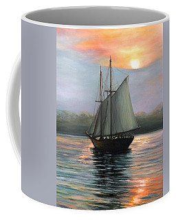 Sunset Sails Coffee Mug by Eileen Patten Oliver