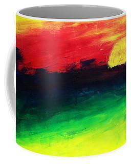 Coffee Mug featuring the painting Sunset by Salman Ravish