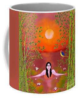 Sunset Songs Coffee Mug by Latha Gokuldas Panicker