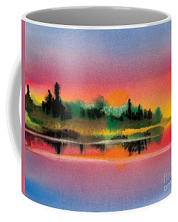 Coffee Mug featuring the painting Sunset by Teresa Ascone