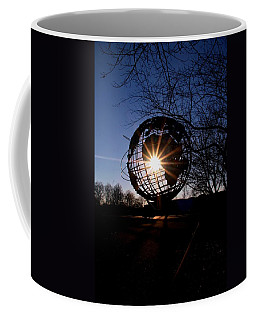 Sunset Through The Unisphere Coffee Mug