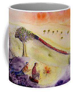Sunset Train Coffee Mug