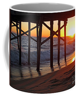 Sunset Under The Pier Coffee Mug