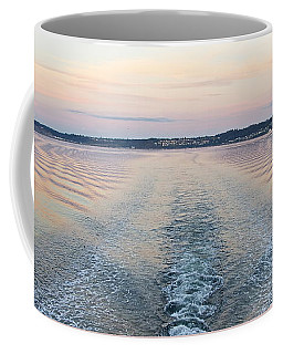 Coffee Mug featuring the photograph Sunset Wake by Sean Griffin