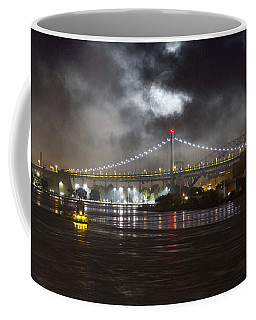 Super Moon And Triboro Bridge Coffee Mug