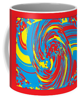 Coffee Mug featuring the painting Super Swirl by Catherine Lott