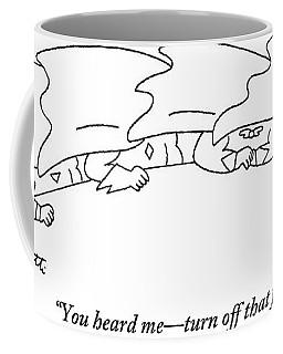 Superheroes At An Executive Superhero Meeting Coffee Mug