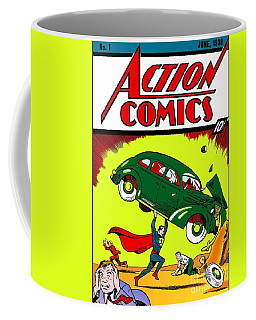 Superman Comic Book -1938 Coffee Mug by Doc Braham
