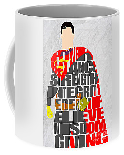 Superman Inspirational Power And Strength Through Words Coffee Mug