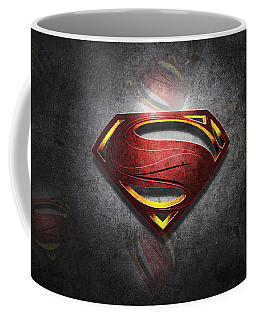 Superman Man Of Steel Digital Artwork Coffee Mug