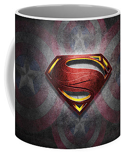 Superman Symbol Digital Artwork Coffee Mug