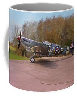 Coffee Mug featuring the photograph Supermarine Spitfire Hf Mk. Ixe Mj730 by Paul Gulliver