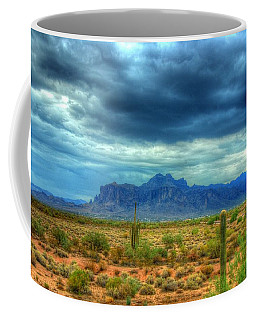 Coffee Mug featuring the photograph Superstition Mountain by Tam Ryan