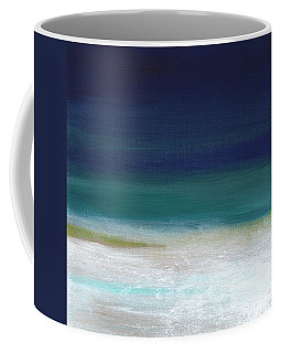 Surf And Sky- Abstract Beach Painting Coffee Mug by Linda Woods