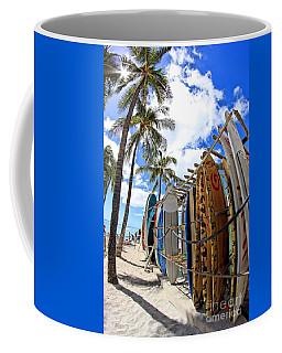 Surf And Sun Waikiki Coffee Mug