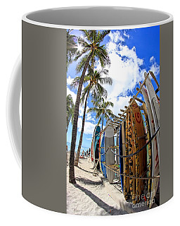 Surf And Sun Waikiki Coffee Mug