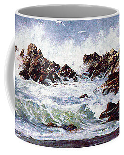 Surf At Lincoln City Coffee Mug