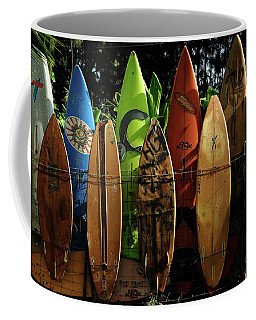 Surfboard Fence 4 Coffee Mug by Bob Christopher