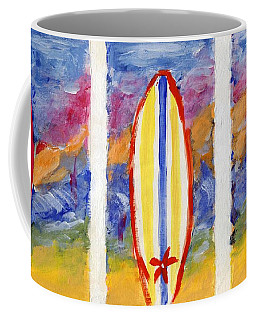 Coffee Mug featuring the painting Surfboards 1 by Jamie Frier