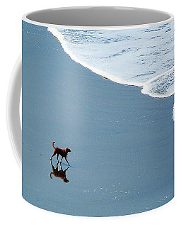 Surfer Dog Coffee Mug by AJ  Schibig