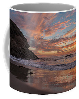 Surfers And Sunset At Strands Beach Dana Point Coffee Mug