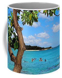 Coffee Mug featuring the photograph Surfers In Paradise by Kristine Merc