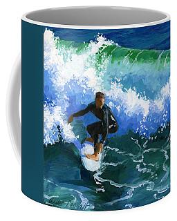 Surfin' Huntington Beach Pier Coffee Mug