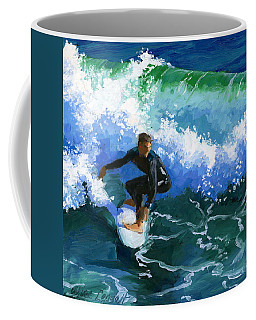 Surfin' Huntington Beach Pier Coffee Mug