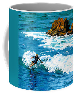 Surfin' Laguna Rocks Coffee Mug
