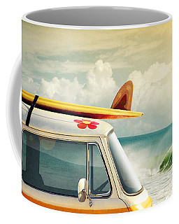 Surfing Way Of Life Coffee Mug by Carlos Caetano